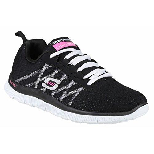 Skechers Flex Appeal Something Fun, Chaussures de sports en salle femme Noir/Multicolore