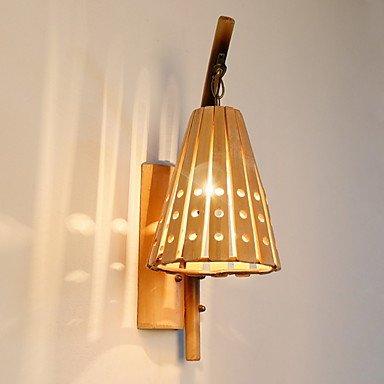 YYHAOGE Protection Des Yeux Pays Appliques &Amp ; Appliques En Bois Pour Une Salle De Séjour/Bamboo Wall Light 220-240V 40W