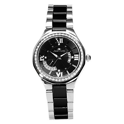 Stella Maris - STM15Y3 - wrist watch for women - quartz movement analog display - black dial - black ceramic bracelet