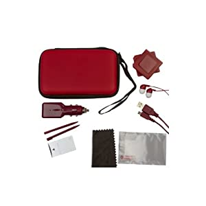 Nintendo 3DS 12-in-1 Travel Pack / Case / Tasche: Rot