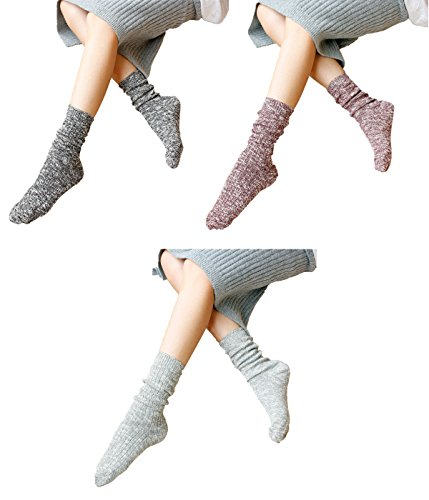 Zando no show da donna Cozy Anti-Fatigue caviglia alta cotone Casual Calzini Mix Color-3 Pairs A Taglia unica