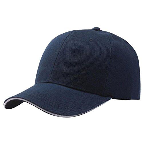 Rawdah Mujeres Gorra de Béisbol Gorro de Snapback Hip-Hop Ajustable (Azul marino)