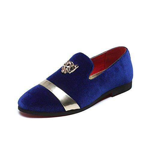 XUE Herren Wildleder Schuh Frühjahr Sommer Loafers & Slip-Ons Fahr Schuhe Lazy Schuh Casual atmungsaktiv Comfort Formal Business Work Party & Abend (Farbe : EIN, Größe : 45)