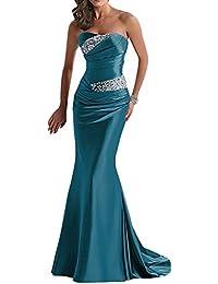 Vestido corte sirena azul marino