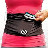 Sporteer VersaFlex Running Belt, Travel Money and Passport Belt, Workout Waist Pack