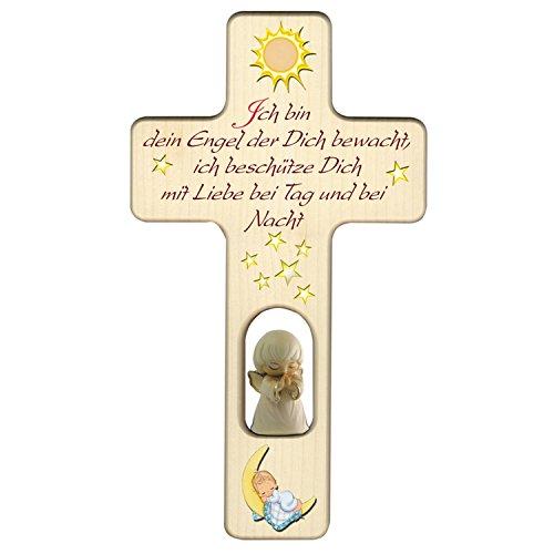 Holzkreuz zu Geburt, Taufe oder Kindergeburtstag/Dekoration / mit Aufhängung