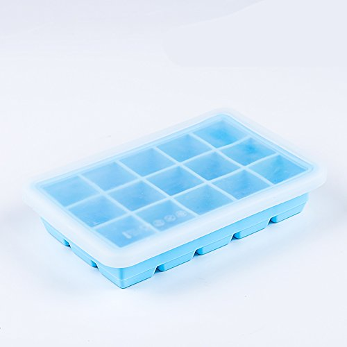 Ice Ice Cream Mould Box Ice Box Eis Popsicle Ice Mould Set Hausgemachte selbstgemachte gefrorene Popsicle Ice Maker (Farbe : Blau, größe : 2) (Oval Ice Maker Cream)