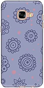 The Racoon Grip printed designer hard back mobile phone case cover for Samsung Galaxy C5. (cute doodl)