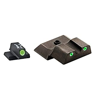 AmeriGlo Classic Series 3 Dot Sights for S&W M&P, Green/Green by AmeriGlo