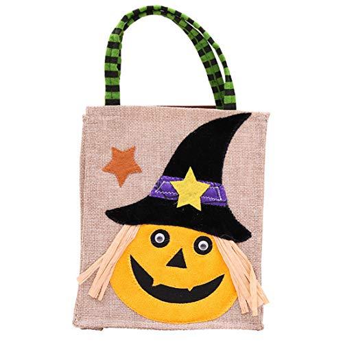 Yefree Halloween Party Niedlich Einkaufstasche Kind Süßigkeitstasche Snack-Tasche Geschenkbeutel Einkaufstüte