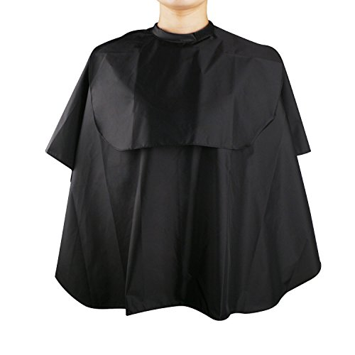 Segbeauty® Waterproof Nylon Salon Hair Cape Barber Cape, Touch Closure Odourless Hair Stylist Cape, Black Mini Comb-out Make-up Beard Trimming Shampoo Hair Color Haircut Apron