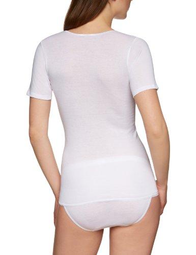 Huber Damen T-Shirt Finesse Shirt Kurzarm Weiß (WEISS 0500)