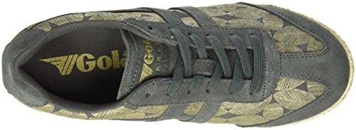 Gola - Harrier Leaf, Scarpe da ginnastica Donna Grigio (CHARCOAL/Gold Leaf)