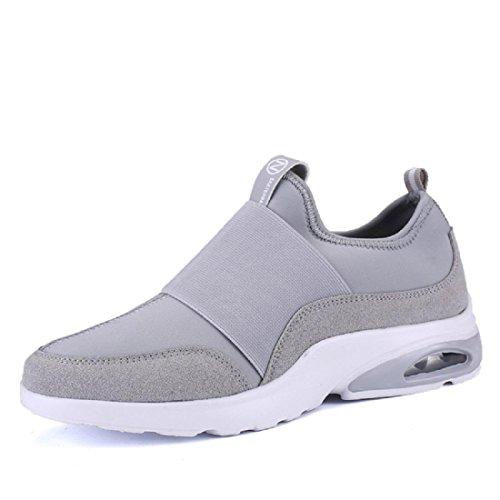 Hommes Chaussures de sport Entraînement Respirant élasticité Chaussures décontractées Chaussures paresseuses Grey