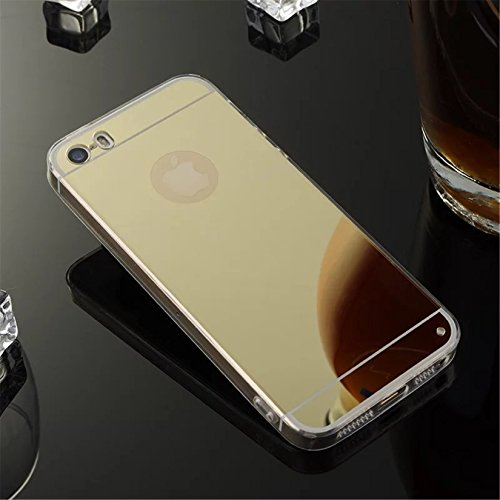 Coque Iphone 4S/4G,Miroir Coloris Silicone TPU Etui Housse Bumper pour Apple Iphone 4S/4G - Or X01