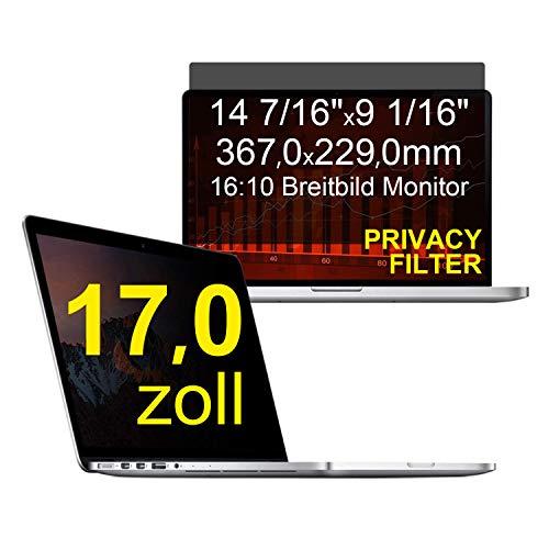 """C1st 17 Zoll 16:10 Displayschutz Displayfilter Blickschutzfilter Sichtschutz Sichtschutzfolie 14 7/16\"""" x9 1/16\"""" Strahlenschutz Blendschutz"""