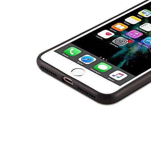 Ultra dünner und leichter Schutzhülle Retro mattierter lederner Ganzkörper-Rückseiten-Abdeckungs-Fall für iPhone 7 Plus ( Color : Gray ) Brown