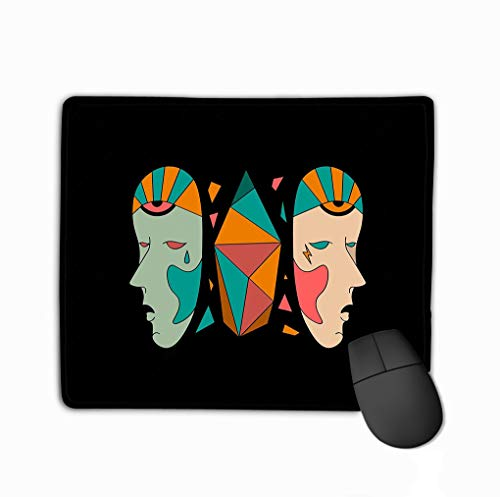 Mouse Pad Halloween Hipster Character Rectangle Rubber Mousepad 11.81 X 9.84 Inch