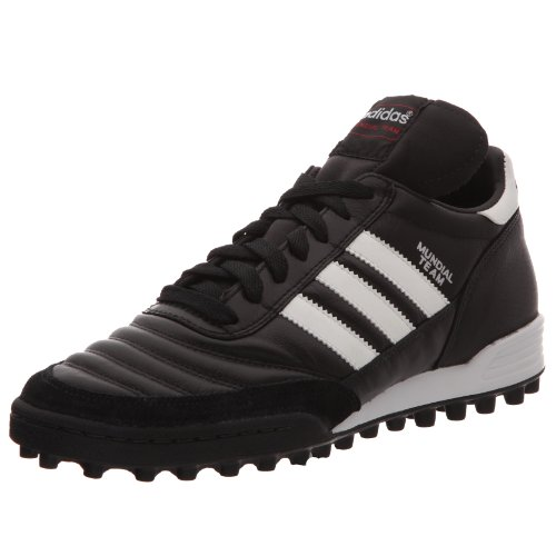 adidas - Mundial Team, Scarpe Da Calcio unisex, Nero (Black/Running White Ftw/Red), 41 1/3