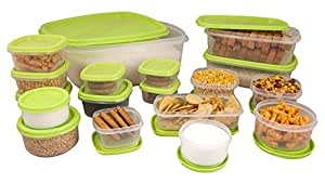 Princeware SF Package Container Set, 18-Pieces, Green