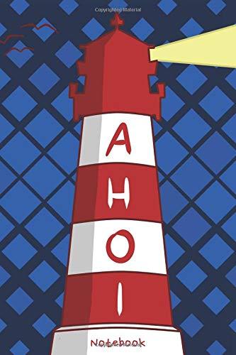 Preisvergleich Produktbild AHOI Notebook: Liniertes Notizbuch mit schönem Leuchtturm Design für alle Nordlichter