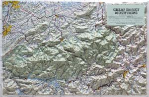 American Educational Products Raised Relief Map 403 Great Smoky Mtn National Park by American Packing & Gasket - Great Smoky Mtns National Park