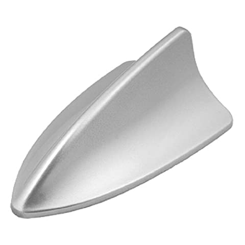 sourcingmap® Car Roof Mounted Silver Tone Plastic Shark Fin Antenna Ornament