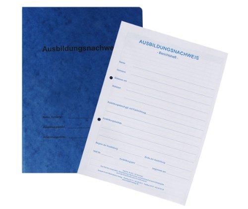 Berichtsheft / Ausbildungsnachweis als Block - für 1 Jahr: tägliche Eintragungen (Mo. - So.), pro Woche 1 Seite für zusätzliche Berichte / Zeichnungen, mit Kartonhefter Pro-koch-block
