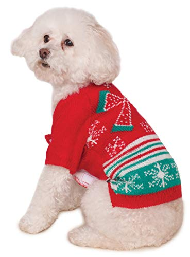 Rubie's Xmas Ugly Sweater mit Schleife, Extra Large, Mehrfarbig