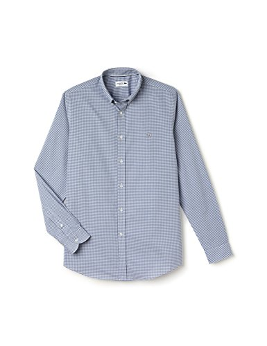 Lacoste Men's Men's Regular Fit Shirt In Size 40-M Light Blue