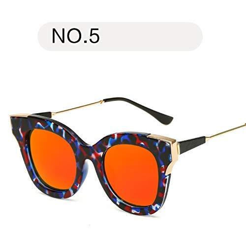 XHCP Frauen polarisierte Klassische Flieger-Sonnenbrille, polarisierte Sport-Sonnenbrille UV400-Schutz-Sport-Sonnenbrille für das Radfahren der laufenden Gläser (Farbe: NO.5, Größe: Freie Größe)