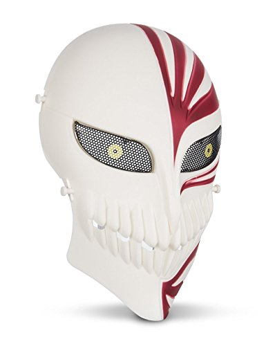 Signstek Totenkopf Schädel Vollschutzmaske Tactical Maske Scary Geistermaske für Halloween, Cosplay usw (Scary Maske Weiß)