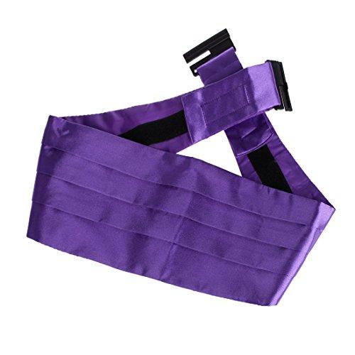 DIB7E01 Multicolore solide microfibre Hommes Cummerbund 1 Pack par Dan Smith DIB7E01H-Violet