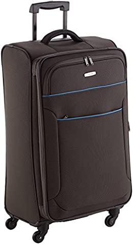 Travelite Derby Valise Trolley avec 4 Roues, 77 cm, 84 L, Anthracite