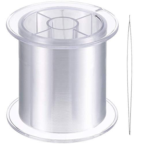 AMGOMH Geflochtene Angelschnur Monofil, 1 Rolle mit 500 M, 0,25 MM, Klares Nylon Einzelschnüre