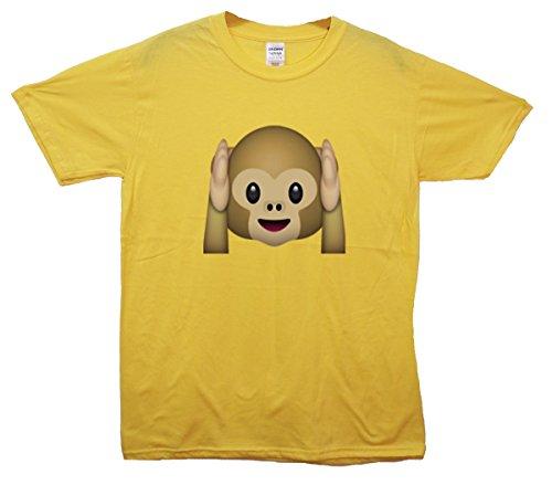 Hear-no-evil Monkey Emoji T-Shirt Gelb