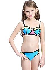 Baymate Enfant Fille Bikini Ensemble Deux Pièces Maillot de bain Maillots de plage Swimwear