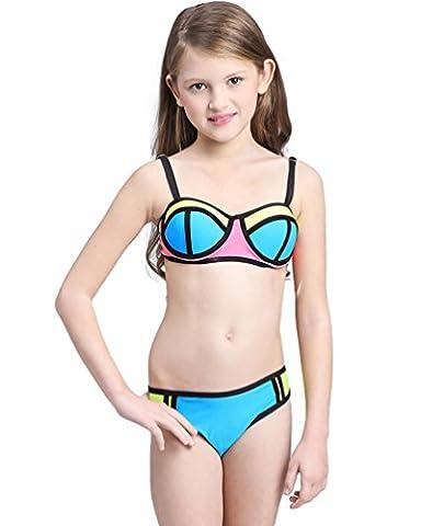 Baymate Enfant Fille Bikini Ensemble Deux Pièces Maillot de bain