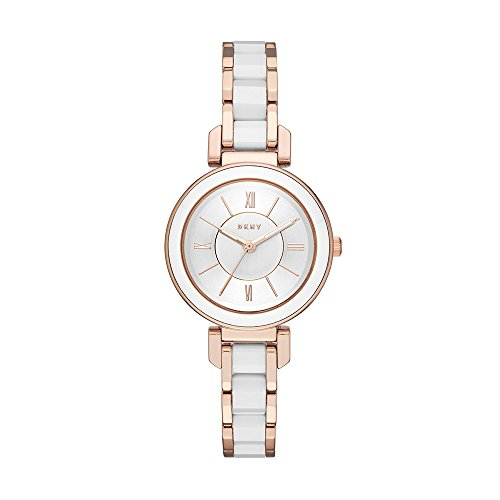 DKNY Women's 'Ellington' Quartz and Stainless-Steel-Plated Casual Watch, Color:Rose Gold-Toned (Model: NY2589)