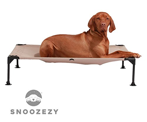 snoozezytm orthopaedic support elevated dog bed indoor outdoor use