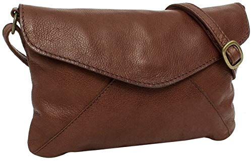 Umhängetasche aus Leder Gusti Leder Studio \'\'Karisma\'\' Handtasche Damen Dunkelbraun 2H83-48-2