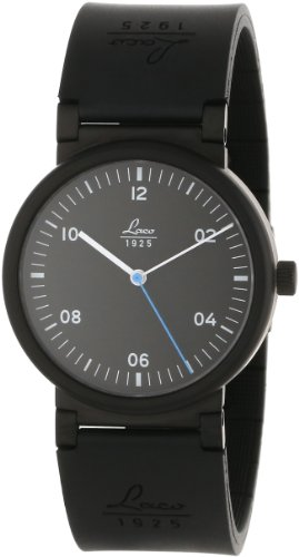Laco 1925 Unisex Automatic Watch with Black Dial Analogue Display and Black Rubber Strap 880106
