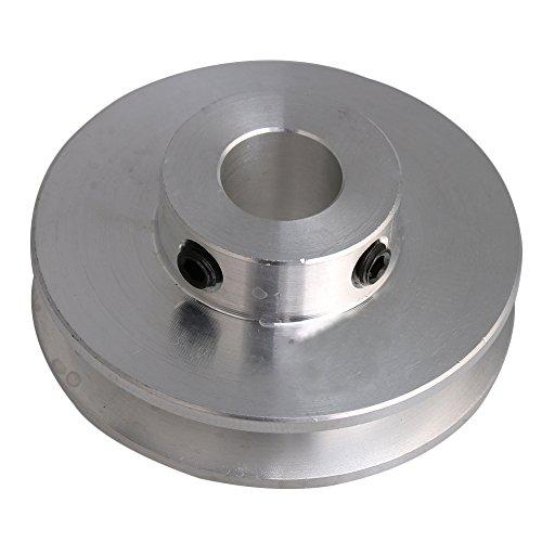4,1x1,6x1 CM Silber Aluminiumlegierung 1 CM Festloch Einzelne Nut V-form Riemenscheibe für Motorwelle 0,3-0,5 CM PU Runde Gürtel