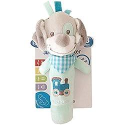 DDG EDMMS perro Traqueteo del bebé de la felpa juguete del pesebre del juguete que cuelga, cochecito de bebé de juguete cama de asiento de coche, juguete del desarrollo de la actividad recién nac
