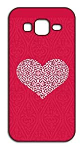 Happoz Heart with Pattern 0 pouch Mobile Phone Back Panel Printed Fancy Pouches Accessories Z1451