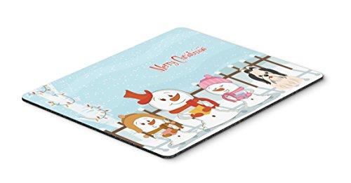 Caroline 's Treasures Merry Christmas Shih Tzu schwarz weiß Maus Pad, multicolor, 7,75x 23,5(bb2419mp) -