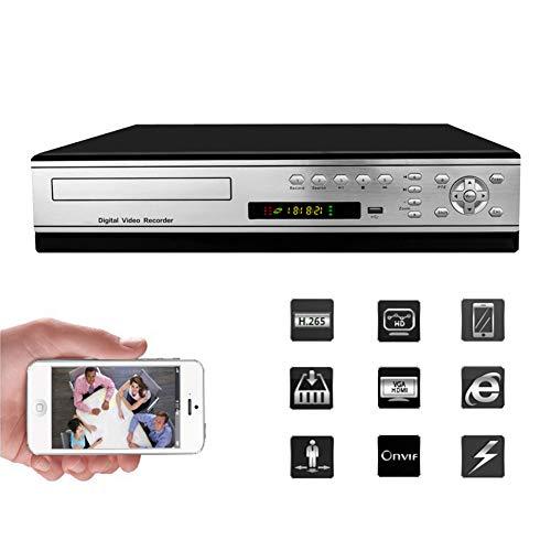LYJPXLK H.265X-Netzwerk-NVR 5MP HD 64 Weg Festplatten Rekorder Überwachungskamera System VGA/HDMI HD Ausgang Unterstützung 4 Festplatten * 6 TB (Nicht enthalten) Leistung: DC12 (V) Hdd-echtzeit-dvr