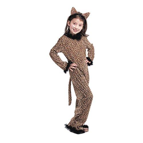 LPATTERN Cosplay Kinder Bühne Leistung Kleidung Spiel Kostüm, Leopard, XL(Fabrikgröße: XXL