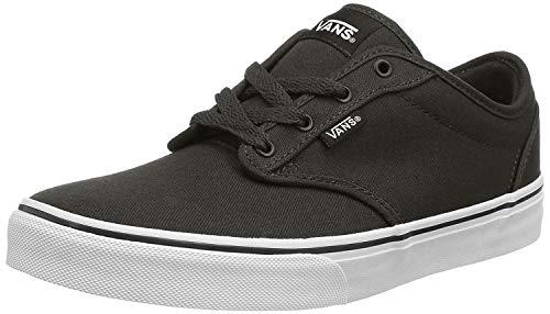 Vans Atwood, Zapatillas Unisex Niños, Negro Canvas Black/White 187, 38 EU
