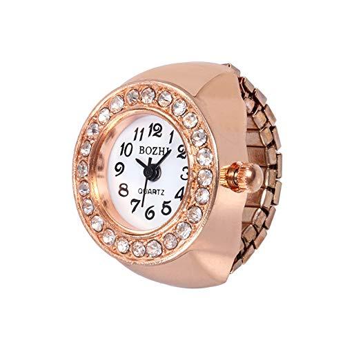 TianWlio Armbanduhren Damen Mode Frauen Zifferblatt Quarz Analog Uhr Kreative Stahl Cool Elastic Quarz Finger Ring Uhr